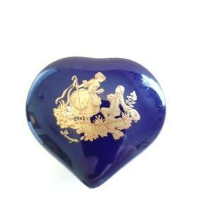 Vintage Limoges Trinket Box Heart Shaped